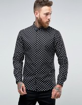 Religion Slim Smart Shirt In Diamond Print