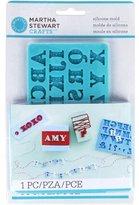 Martha Stewart Crafts Silicon Mold, Alphabet