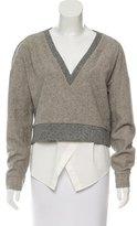 Derek Lam 10 Crosby Wool-Blend Layered Sweater