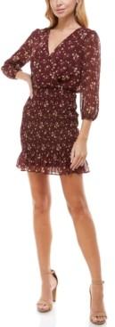 Trixxi Juniors' Smocked Bodycon Dress