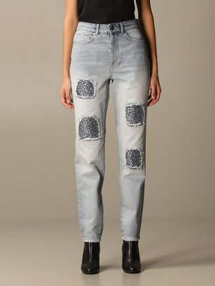 Be Blumarine Jeans Be Blumarine Jeans In Denim With Rhinestones