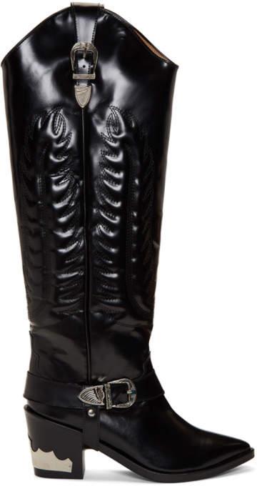 6ef8351cdd5 Black Tall Cowboy Boots