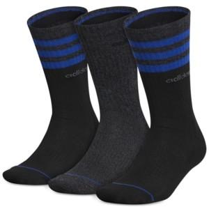 adidas Men's 3-Pk. 3-Stripe Crew Socks