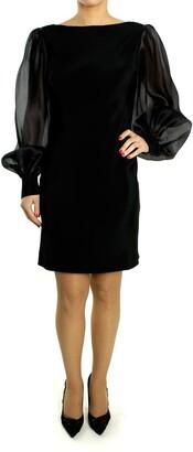 Paul & Joe Black Silk Long Sleeve Dress - 40 - Black