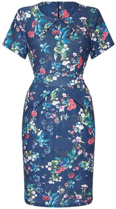 Yumi Floral Printed Tulip Dress With Pocket Detail