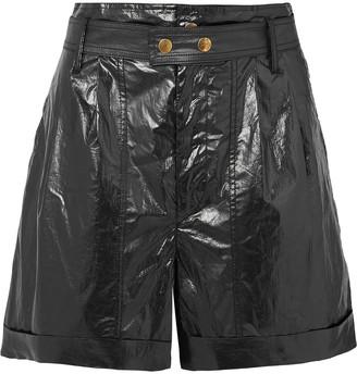 Isabel Marant Tweni Coated-cotton Shorts