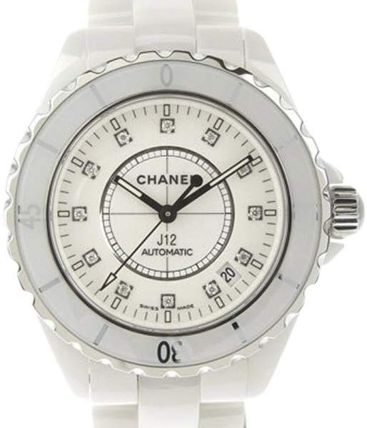 Chanel J12 H1629 Ceramic with 12P Diamond Dial Automatic 40mm Mens Watch