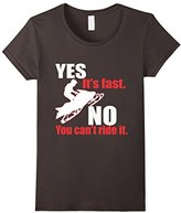 Lego Women's Snowmobile Yes Its Fast No You Cant Ride It T-Shirt Small