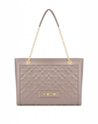 Love Moschino Quilted Shopper Bag With Logo