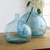 Crate & Barrel Recycled Glass Vases