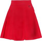 Love Moschino Embellished stretch-knit mini skirt