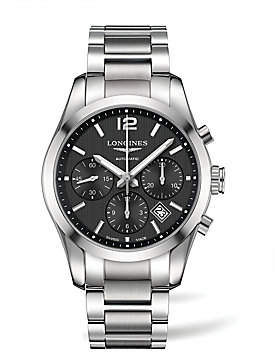 Longines Men's Conquest Classic Stainless Steel Chronograph Bracelet Watch