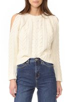 Anine Bing Cut Out Shoulder Knit Ivory