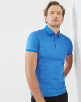 Ted Baker Geo print polo shirt