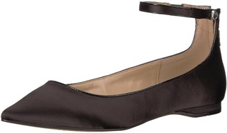 The Fix Women's Evie Military-Inspired Ankle Strap Pointed-Toe Flat Ballet