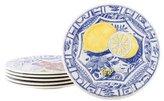 Gien Set of Six Oiseau Bleu Dessert Plates
