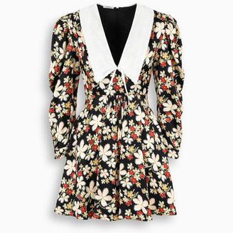 Miu Miu Mini dress with floreal print and collar