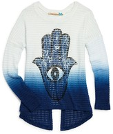 Vintage Havana Girls' Hamsa Split Back Waffle Top - Sizes S-XL