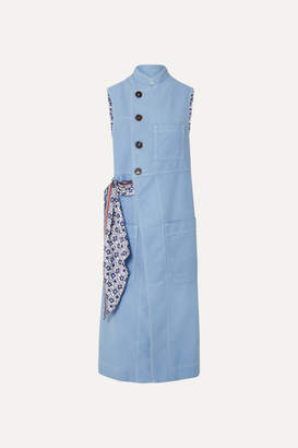 Chloé Cotton And Silk Vest - Light blue