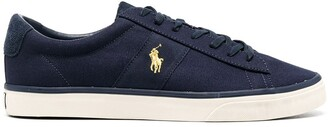 Polo Ralph Lauren Embroidered-Logo Low-Top Sneakers