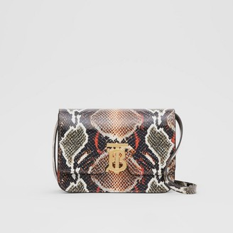 Burberry Small Python Print Leather TB Bag