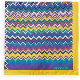 Missoni Zigzag Quad Silk Pocket Square
