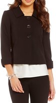 Tahari ASL Bi-Stretch Cuffed Jacket