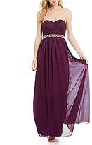 Xtraordinary Strapless Lace Bodice Long Dress