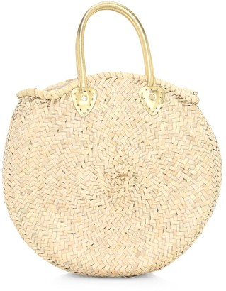 Poolside Le Cercle Woven Straw Tote