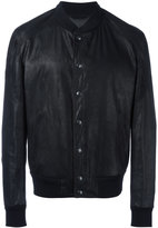 Drome button up bomber jacket - men - Lamb Nubuck Leather - 48