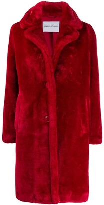 Stand Studio Oversized Faux-Fur Coat