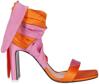 ATTICO The Pink And Orange Leather Sandals