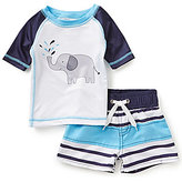 Starting Out Baby Boys 3-24 Months Elephant Tee & Striped Swim Shorts Set