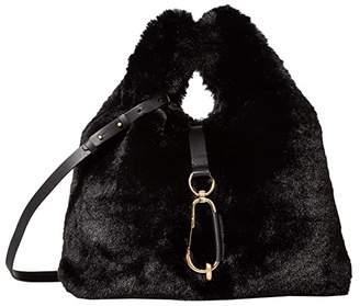Zac Posen Belay Shopper - Faux Fur (Black) Handbags