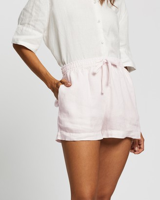 Assembly Label - Women's White Shorts - Anika Linen Shorts - Size 8 at The Iconic