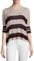 Autumn Cashmere Cashmere Rugby Striped Sweater