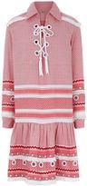Dodo Bar Or Red & White Cotton Gadielle Dress