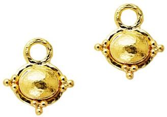 Elizabeth Locke 19K Yellow Gold Stud Earrangs