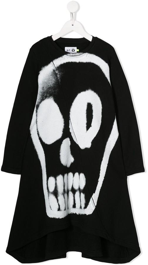 Nununu Skull-Print Dress