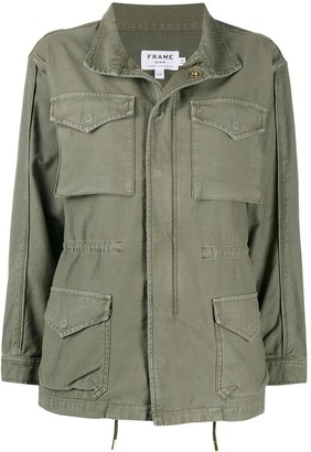 Frame Press Stud Military Jacket