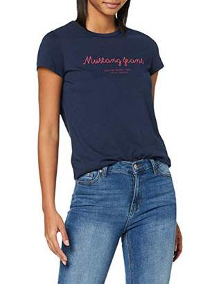 Mustang Women's Fancy T-Shirt Dress Blues 5334, (Size:S)