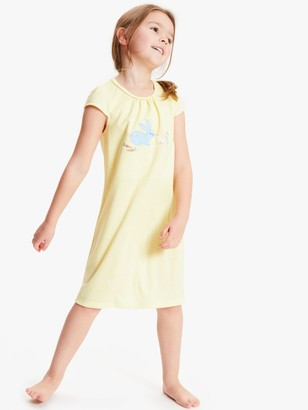 John Lewis & Partners Girls' Bunny Night Dress, Yellow