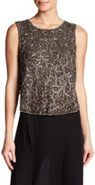 Haute Hippie Sleeveless Embellished Silk Blouse
