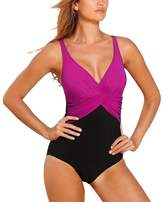 GWELL Womens Tummy Control Push Up One Piece Swimsuit Swimwear Monokinis