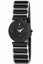 Jowissa Women's J5.227.M Facet Black PVD Stainless Steel Black Ceramic Bracelet Date Watch