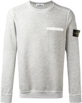 Stone Island patch pocket sweatshirt - men - Cotton/Polyester - XL