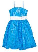 Un Deux Trois Girl's Lace Party Dress