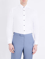 Eton Contrast-button slim-fit cotton shirt