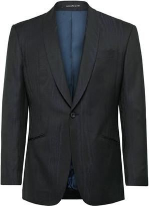 Richard James Navy Slim-Fit Satin-Trimmed Wool-Moire Tuxedo Jacket