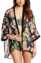 Fever Women Bahamas Cover up Floral 3/4 Sleeve Cardigan